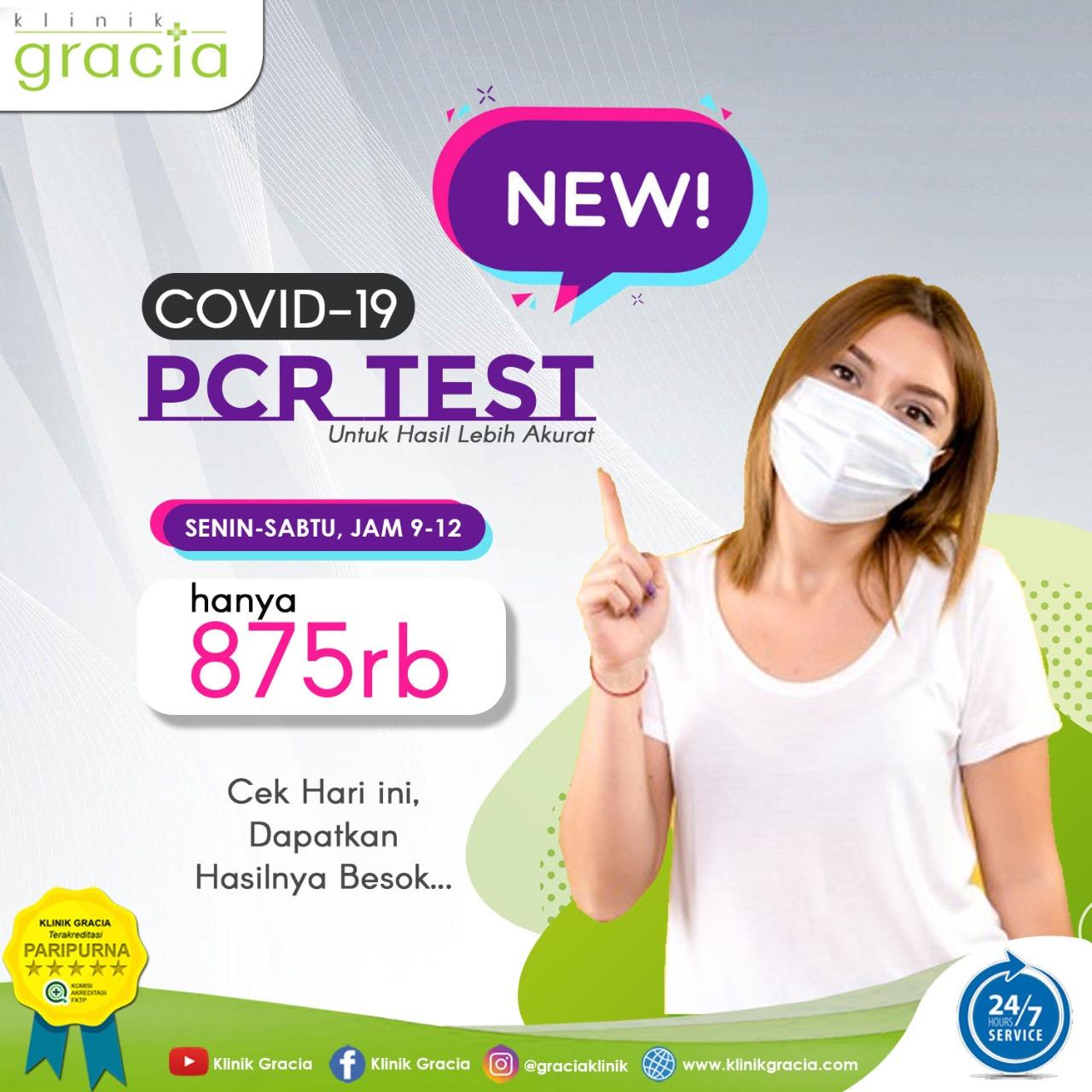SWAB PCR Covid-19 Kini Hadir di Klinik Gracia